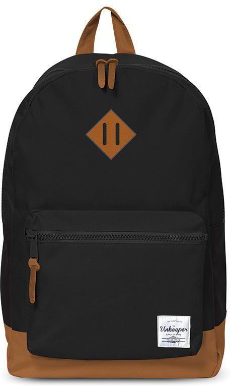 Τσάντα δημοτικού μαύρη με 2 θήκες 43x3 2.5x1 3.3 εκ. Unkeeper 28761 παιδί   τσάντες δημοτικού   για κοριτσια