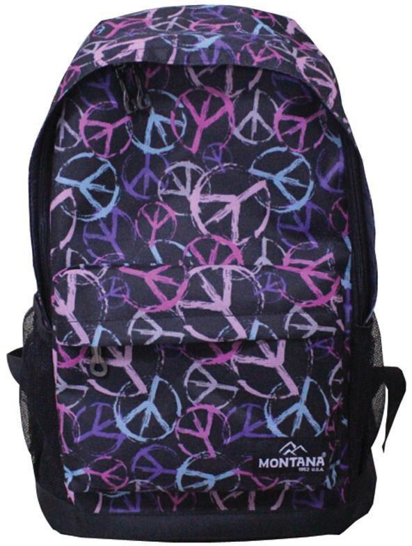 348ae0c6b9 Τσάντα πλάτης μαύρη με σχέδια με 1 θήκη 42x31x13 εκ. Montana 30700