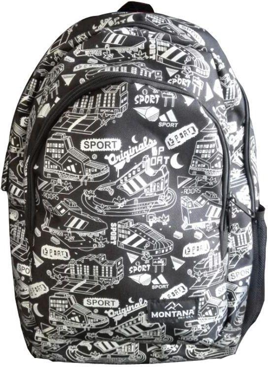Τσάντα πλάτης μαύρη σπορ με 1 θήκη 40x27x13 εκ. Montana 30703 παιδί   τσάντες δημοτικού   για αγορια