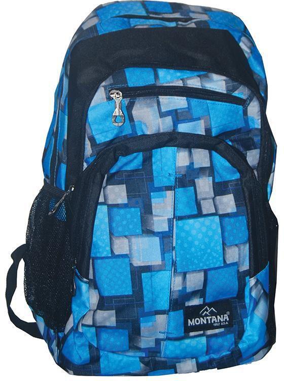 Τσάντα πλάτης μπλε με 1 θήκη 40x28x13 εκ. Montana 30711