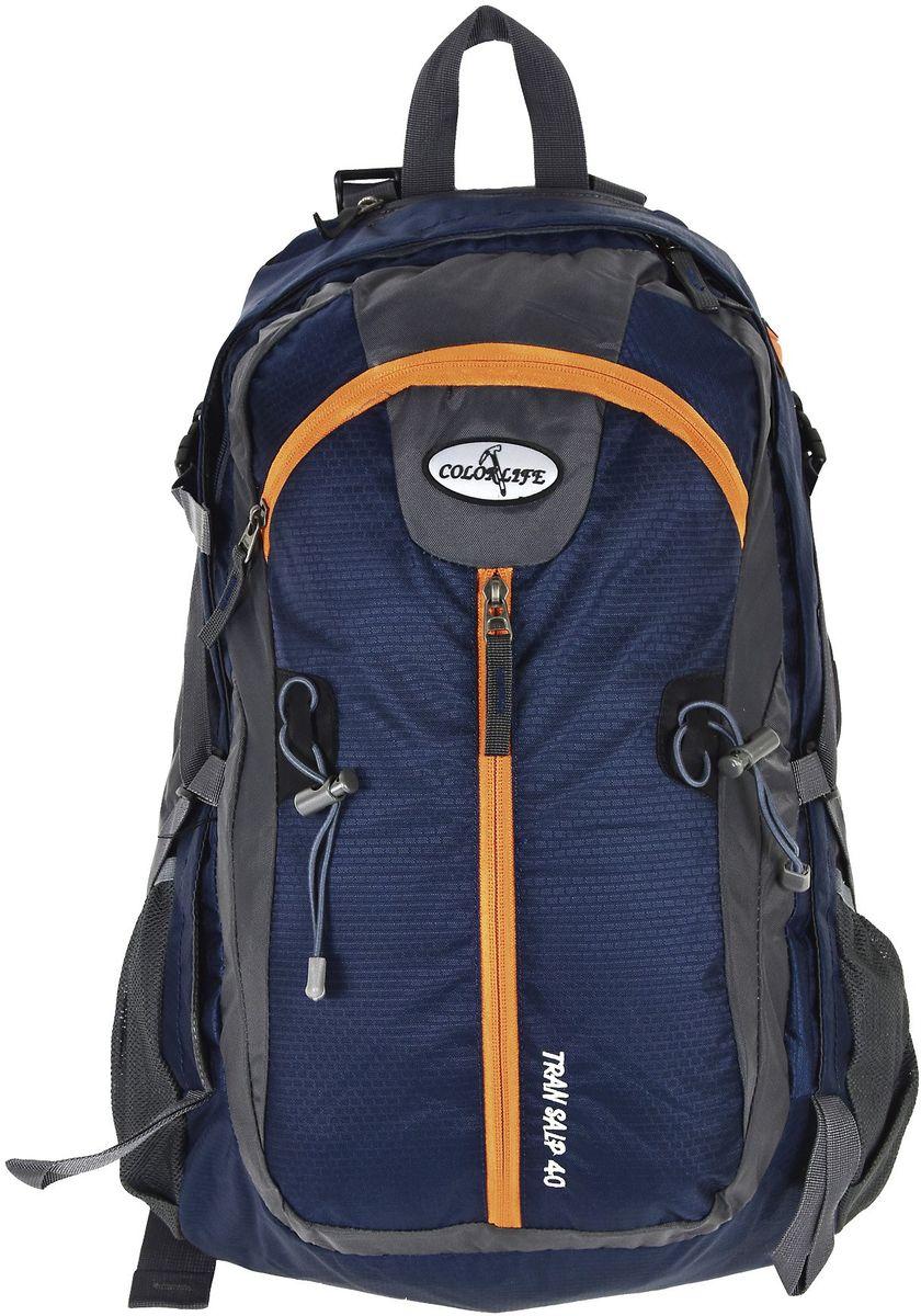 Ορειβατικό Σακίδιο 40lt Net Adventure Colorlife 1065 Μπλε Σκ...