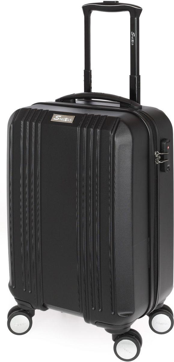 Βαλίτσα Καμπίνας Σκληρή 4 Ρόδες 55 εκ Stelxis 510-55 Μαύρο