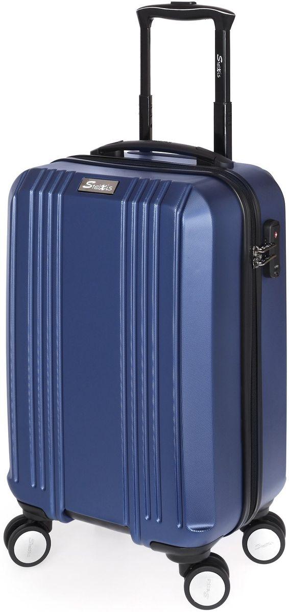 d055623c8f Bagz Βαλίτσα Καμπίνας Σκληρή 4 Ρόδες 55 εκ Stelxis 510-55 Μπλε