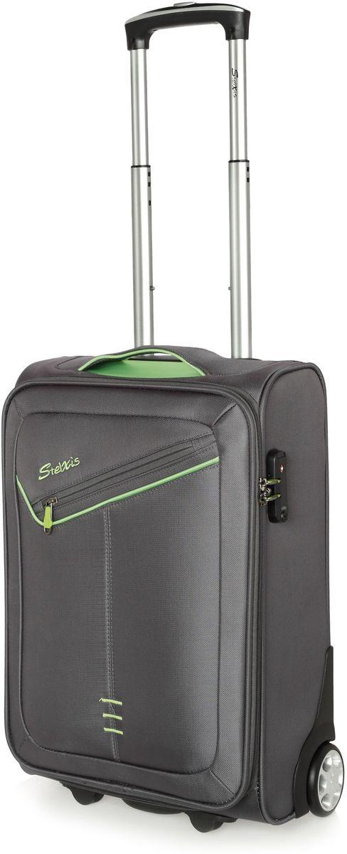 Βαλίτσα Καμπίνας 2 Ρόδες 55x40x20 εκ. Stelxis 102-55 Γκρι