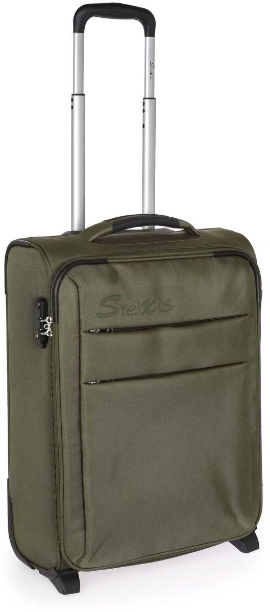 Βαλίτσα Καμπίνας 2 Ρόδες 55x40x20 εκ. Stelxis 110-55 Λαδί