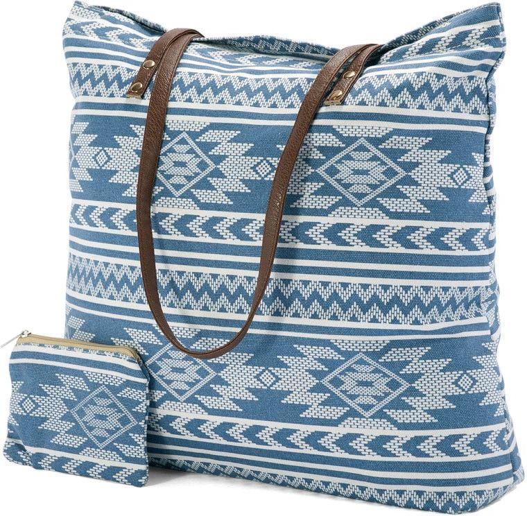 Τσάντα Θαλάσσης Blue-White Benzi BZ4819 γυναίκα   τσάντες παραλίας