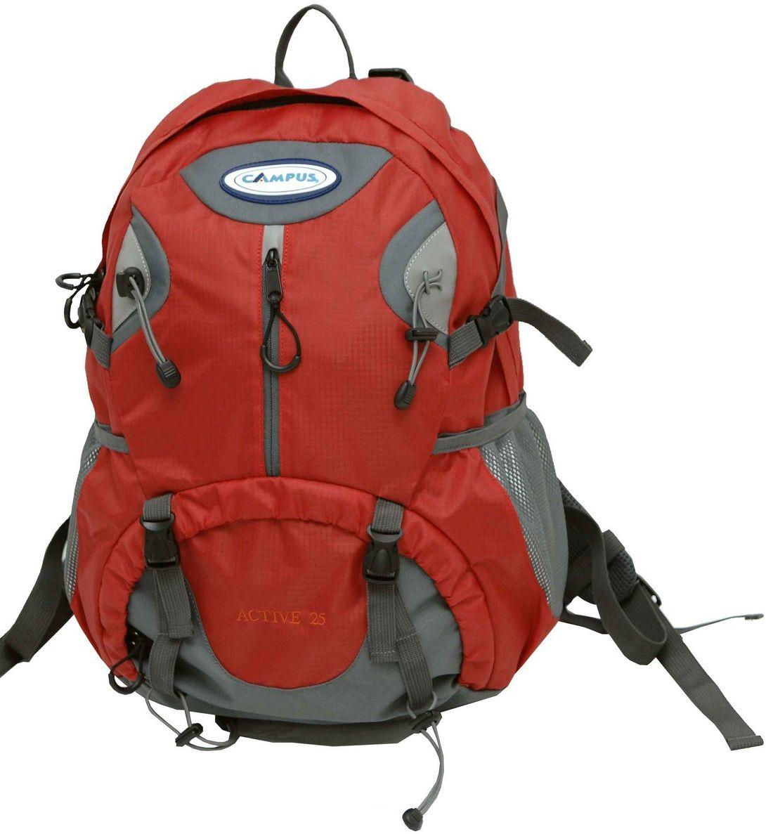 Σακίδιο Πλάτης 25lt Active 25 Κόκκινο Campus 810-6111-9 σακίδια   τσάντες   ορειβατικά σακίδια