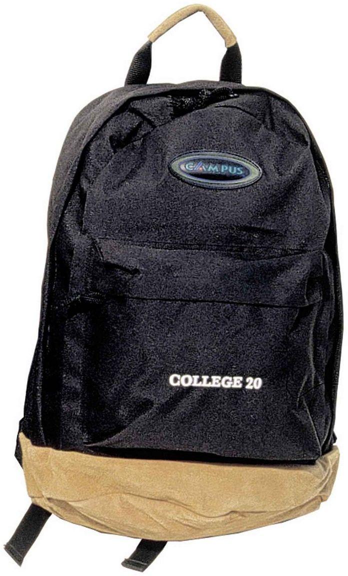 Σακίδιο Πλάτης 20lt College Μαύρο Campus 810-2060-14 σακίδια   τσάντες   τσάντες πλάτης