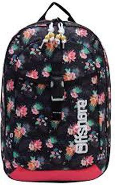 Τσάντα πλάτης δημοτικού λουλούδια μαύρη με 2 θήκες 49x33x12 εκ. Bagtrotter 30439 παιδί   τσάντες δημοτικού   για κοριτσια