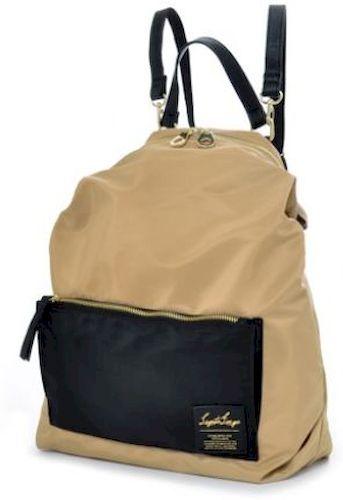 Γυναικειο Backpack Legato Largo 1041K Μπεζ/Μαύρο γυναίκα   τσάντες πλάτης