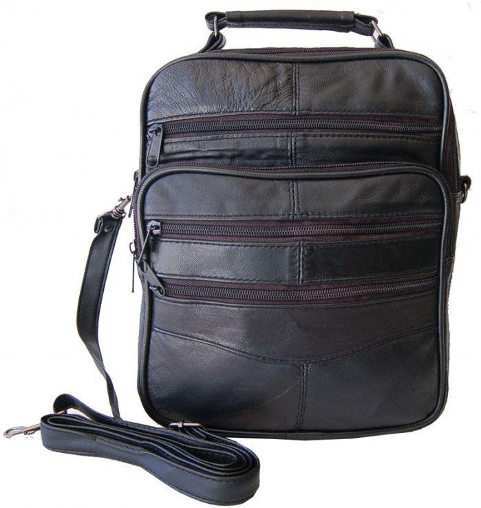 217064423d Ανδρική τσάντα δερμάτινη Kouros 2005 10 Μαύρο