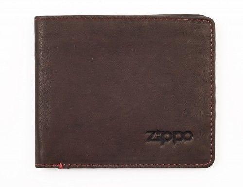 Ανδρικό Δερμάτινο Πορτοφόλι 11x10cm Zippo 5384 Καφε πορτοφολια   αξεσουάρ   πορτοφολια   ανδρικά