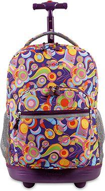 Τσαντα Τρολευ Sunrise Funky JWorld 395-00001 101 σχολικες τσαντες   τσάντες δημοτικού   για κοριτσια