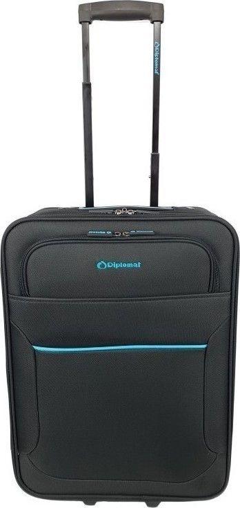 Βαλίτσα καμπίνας τρόλεϊ 55Χ38Χ20 Diplomat ZC 3001 Μαύρο ειδη ταξιδιου   βαλίτσες   βαλίτσες   βαλίτσες καμπίνας