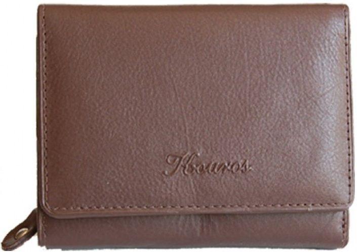 Δερματινο Γυναικειο Πορτοφολι 12x9cm Kouros 8246D Καφε γυναίκα   πορτοφόλια