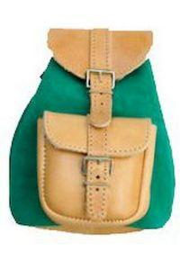 Δερμάτινη Τσάντα Πλάτης 12x16 εκ. Kouros 642 Πράσινο