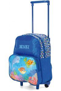Τσάντα Πλάτης Νηπιαγωγείου Τρόλεϊ Benzi BZ4245 Μπλε