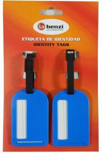 Σετ 2 Ετικετες Αποσκευών Benzi BZ4066 Μπλε