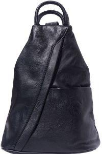 Γυναικειο Δερματινο Backpack Vanna Firenze Leather 2061 Μαύρο