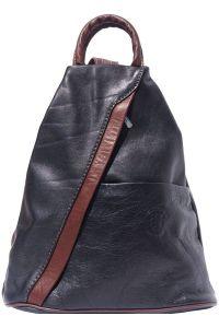 Γυναικειο Δερματινο Backpack Vanna Firenze Leather 2061 Μαύρο/Καφε