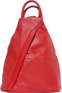 Γυναικειο Δερματινο Backpack Vanna Firenze Leather 2061 Κόκκινο