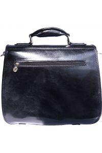 Δερμάτινος Χαρτοφύλακας Mini 2 Θέσεων Firenze Leather 7608 Μαύρο