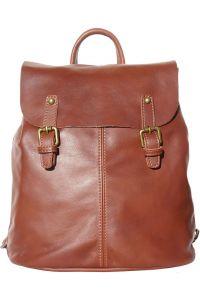 Δερματινη Τσαντα Πλατης Vara Firenze Leather 3010 Καφε