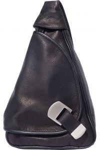 Δερμάτινη Τσάντα Πλάτης Dina Firenze Leather 2007 Μαύρο