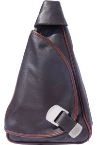 Δερμάτινη Τσάντα Πλάτης Dina Firenze Leather 2007 Σκουρο Καφε/Καφε