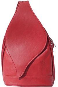 Δερμάτινη Τσάντα Πλάτης Foglia GM Firenze Leather 2060 Κόκκινο