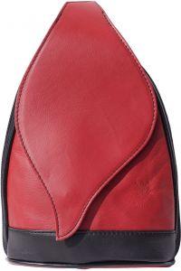 Δερμάτινη Τσάντα Πλάτης Foglia GM Firenze Leather 2060 Κόκκινο/Μαύρο