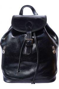 Δερμάτινη Τσάντα Πλάτης Luminosa GM Firenze Leather 6560 Μαύρο