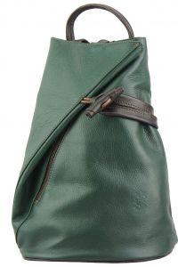 Δερμάτινη Τσάντα Πλάτης Fiorella Firenze Leather 2062 Σκουρο Πρασινο/Καφε