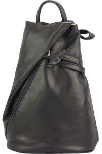Δερμάτινη Τσάντα Πλάτης Fiorella Firenze Leather 2062 Μαύρο