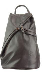Δερμάτινη Τσάντα Πλάτης Fiorella Firenze Leather 2062 Σκουρο Καφε