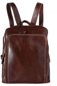 Δερμάτινη Τσάντα Πλάτης Gabriele Firenze Leather 6538 Σκουρο Καφε