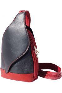 Δερμάτινη Τσάντα Πλάτης Foglia Firenze Leather 2015 Μαύρο/Κόκκινο