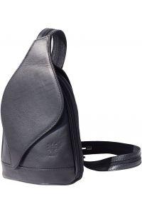 Δερμάτινη Τσάντα Πλάτης Foglia Firenze Leather 2015 Μαύρο