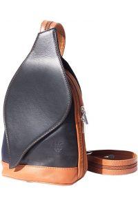 Δερμάτινη Τσάντα Πλάτης Foglia Firenze Leather 2015 Μαύρο/Μπεζ