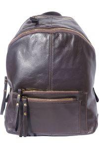 Δερματινη Τσαντα Πλατης Springs Firenze Leather 6144 Σκουρο Καφε