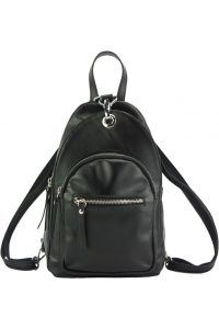 Δερμάτινη Τσάντα Πλάτης Olivia Firenze Leather 6147 Μαύρο