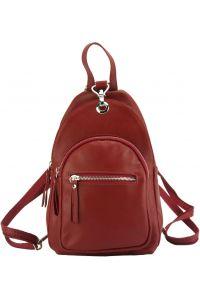 Δερμάτινη Τσάντα Πλάτης Olivia Firenze Leather 6147 Κόκκινο
