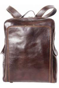 Δερματινη Τσαντα Πλατης Firenze Leather 6558 Σκουρο Καφε