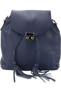Δερμάτινη Τσάντα Πλάτης Bougainvillea Firenze Leather 9119 Σκουρο Μπλε