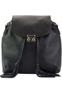 Δερμάτινη Τσάντα Πλάτης Bougainvillea Firenze Leather 9119 Μαύρο