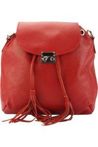 Δερμάτινη Τσάντα Πλάτης Bougainvillea Firenze Leather 9119 Κόκκινο