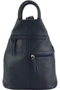 Δερμάτινη Τσάντα Πλάτης Sorbonne Firenze Leather 2064 Σκουρο Μπλε