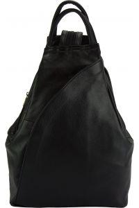 Δερμάτινη Τσάντα Πλάτης Antonella Firenze Leather 2065 Μαύρο