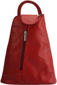 Δερμάτινη Τσάντα Πλάτης Michela Firenze Leather 2001 Κόκκινο