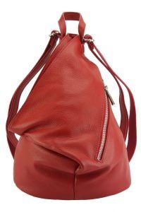 Δερμάτινη Τσάντα Πλάτης Clapton Firenze Leather 9200 Κόκκινο